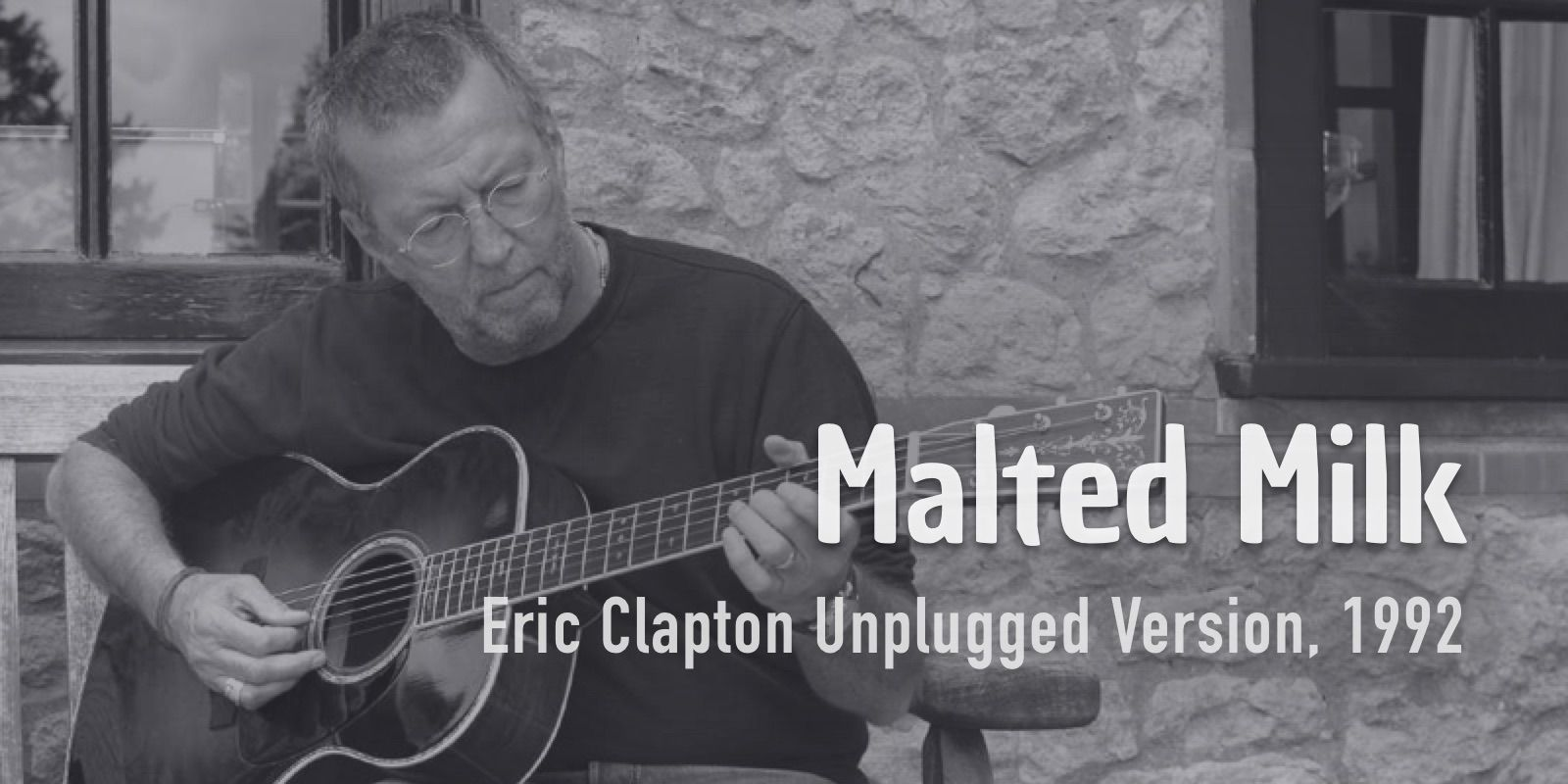 Burninguitar show you how to play Malted Milk in Eric Clapton's version. A great classic of Acoustic Blues Repertoire