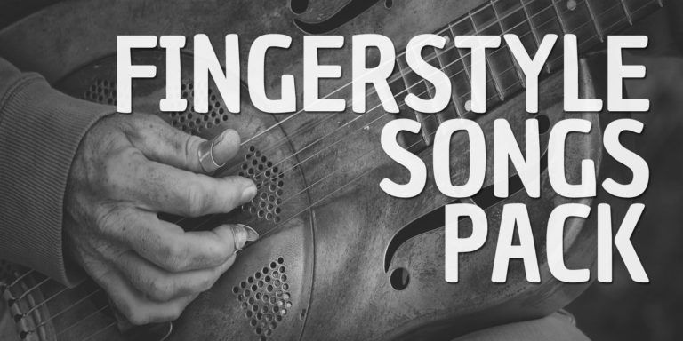Get Your Fingerstyle Songs Pack and learn to play 5 great classics of Acoustic Blues Fingerstyle Guitar Repertoire. Hd Videos and Music Score included