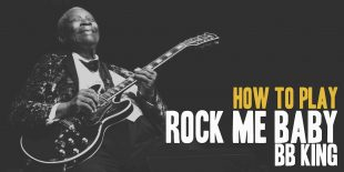 How To play Rock me Baby (BB King) Burninguitar show you how to play Rock me Baby by BB King. A great song of  Blues Guitar. Music Score included in pdf and in guitar pro tab. Rock me Baby lesson include 3 videos and music sheets available for download (both Rock me Baby pdf and Rock me baby gpx)