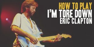 How to play I'm Tore Down by Eric Clapton. A great song of Texas Blues Guitar. Music Score included in I'm Tore Down pdf and My Babe gpx files